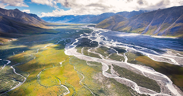 Aerial photo of the Arctic Refuge